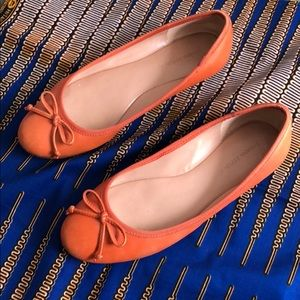 Orange ballet flats